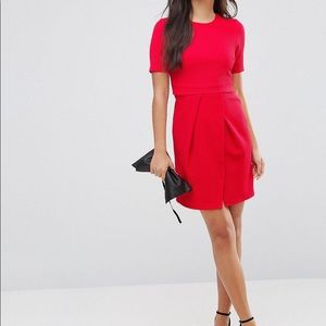 ASOS Double Layer Textured Mini Wiggle Dress